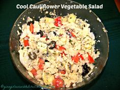 Ginny's Low Carb Kitchen: Cool Cauliflower Vegetable Salad
