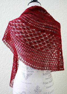 ...Dinner in the Eiffel Tower Shawl by Jessie Dodington, as knit by TwoKnitWit...