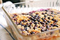 Baked Oatmeal with Lemon and Blueberries