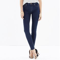 Madewell - High Riser Skinny Skinny Jeans in Davis Wash - MADEWELL JEANS ARE MY ABSOLUTE FAVORITE!