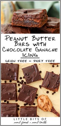 Peanut Butter Bars with Chocolate Ganache Icing - Little Bits of...
