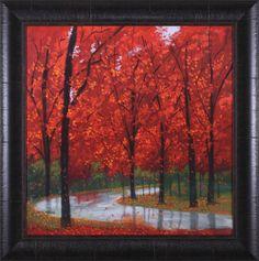 Autumn Stream by Lynn Krause Framed Painting Print