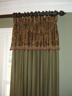 Window Treatment with attached valance