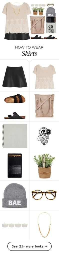 """MANGO top + Mulberry Skirt"" by emc1397 on Polyvore"