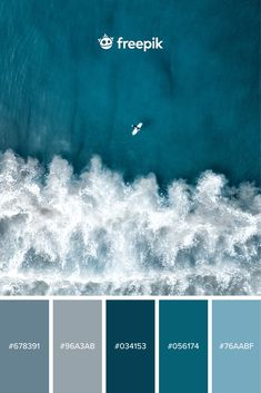 Color Palette For Home, Flat Color Palette, Website Color Palette, Colour Pallette, Style Pastel, Ocean Day, Oceans Of The World, Graphic Design Templates, Seamless Background