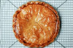 Galette des rois: I made this into cookie-sized galettes and hid the fève in one of the galettes. These were amazing! I've tried the frangipane version, and I didn't like it nearly as much as this one!