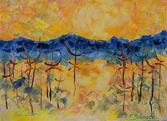 "Contemporary Artists of Colorado: Impressionism Landscape Painting ""Symbolism"" by Colorado Impressionist Judith Babcock"