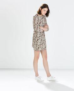 ZARA - NEW THIS WEEK - FLORAL FLOUNCE DRESS