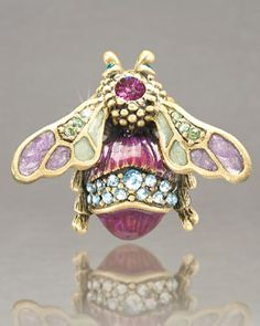 """Y0P94 Jay Strongwater """"Fae"""" Bumble Bee Pin"""