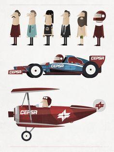 Cepsa by Ignasi Font, via Behance www.ignasifont.com 2012 #illustration #character-design