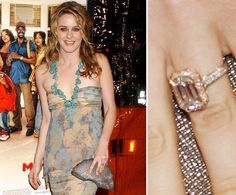 Alicia Silverstone's ring from Christopher Jarecki formerly belonged to his grandmother. They became engaged in 2004 after eight years of dating.