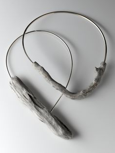 LINDA VAN NIEKERK - wood-you- drift wood + sterling silver necklace