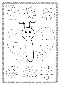Butterflies Trace and Color Pages {Fine Motor Skills + Pre-writing} Preschool Colors, Preschool Writing, Kindergarten Worksheets, Spring Activities, Activities For Kids, Wild West Crafts, Tracing Pictures, Shape Tracing Worksheets, Printable Flower Coloring Pages