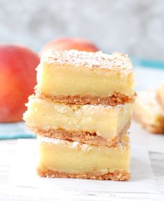 Peach Nectar Custard Bars | http://www.foodlovinfamily.com/peach-nectar-custard-bars/
