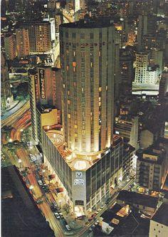 1973 - Hotel Hilton - Igreja e Rua da Consolação - Vista Noturna - Impresso por Ambrosiana Cia Gráfica e Editorial - Ebay