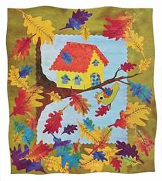 Additional Images of Fanciful Stitches Colorful Quilts by Laura Wasilowski - ConnectingThreads.com