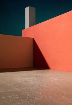 Artist James Casebere gets inspired by the bright buildings of Luis Barragan - PLAIN Magazine Architecture Design, Minimalist Architecture, Orange Architecture, Minimal Photography, Image Photography, Displays, Wallpaper Magazine, Orange Walls, New York Art