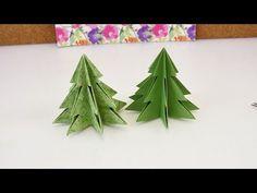 Origami für Weihnachten   DIY Tannenbaum selber machen   Süße Dekoidee für Weihnachten - YouTube