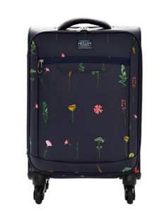 Joules Womens Printed Suitcase, French Navy Garden.