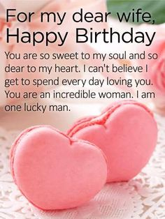 100 Happy Birthday Wishes For Wife With Romantic Images. Romantic Birthday Wishes for Wife from Husband Happy Birthday Wife Quotes, Birthday Message For Wife, Birthday Wishes For Wife, Romantic Birthday Wishes, Happy Birthday Wishes Cards, Happy Birthday Love, Happy Birthday Pictures, Birthday Wishes Quotes, Birthday Greetings