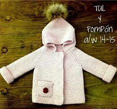 abrigo bebe punto pompones - Buscar con Google