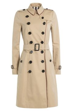Burberry London - Cotton Trench Coat with Contrast Piping    @giftryapp