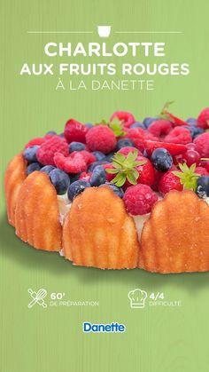 Charlotte Dessert, Charlotte Au Fruit, Anime Cake, Cake Factory, Brunch Wedding, Muffins, Chicken Recipes, Dessert Recipes, Food And Drink