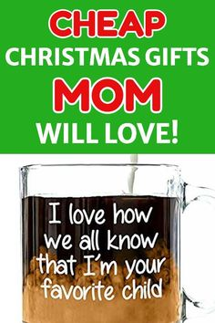 Looking for cheap Christmas gift ideas for Mom? Delight her - even if you don't have much money to spend! Check out these great Christmas gifts for Mom that start at under $15!