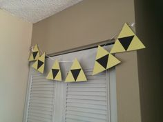 Paper craft decorations for my son's Zelda Birthday Party
