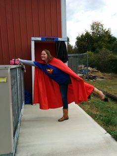 Phone booth geocache in Athens, OH.  They had a superman shirt and cape!! That could be a fun cache idea, to have a container with props and encourage people to dress up, take a selfie, and post it with their log.  You'd have to make sure it's clear on the cache though the props aren't trade items and should be left in the container.