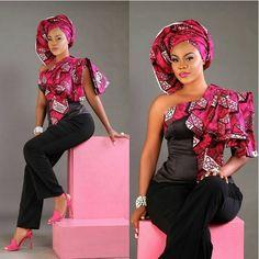 http://www.dezangozone.com/2016/05/check-out-this-creative-ankara-top.html ~African fashion, Ankara, kitenge, African women dresses, African prints, Braids, Nigerian wedding, Ghanaian fashion, African wedding ~DKK