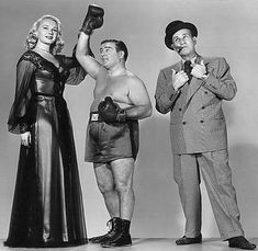 Adele Jergens, Lou Costello, and Bud Abbott Great Comedies, Classic Comedies, Classic Films, Old Movies, Vintage Movies, Whos On First, Comedy Duos, Abbott And Costello, Turner Classic Movies