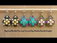 ▶ Mystical Beaded Earrings Tutorial - YouTube