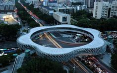 Footbridge in China Depicts the Shape of a Flower
