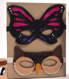 Butterfly  Owl Felt Mask PDF directions Free From Joann.com