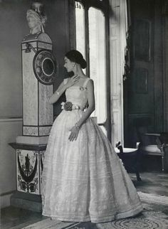 Christian Dior evening dress Photo by Philippe Pottier, 1956