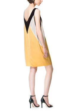 Image 3 of TRICOLOR STUDIO DRESS from Zara