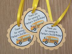 School Days Party Set of 12 School Bus by TheBirthdayHouse