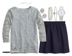 """""""stripes & silver"""" by tabooty ❤ liked on Polyvore"""