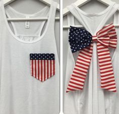 Really cute forth of July tank