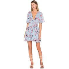 House of Harlow 1960 x REVOLVE Harper Wrap Dress (420 ILS) ❤ liked on Polyvore featuring dresses, sleeve wrap dress, house of harlow 1960, wrap front dress, wrap dress and sleeved dresses