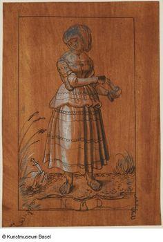 """Törichte Jungfrau"" (Foolish Virgin), 1513. Niklaus Manuel gen. Deutsch"