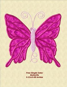 Single Color Butterfly Applique FREE DOWNLOAD