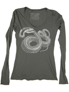 Supermaggie+Snake+Skeleton+Organic+Cotton+Long+Sleeve