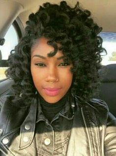 Crochet  side part Big Hair Curls