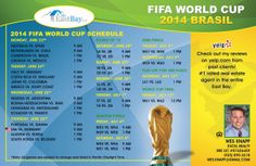 2014 FIFA World Cup Schedule - created for Realtor Wes Knapp, from the East Bay. www.MrEastBay.com #WorldCup #Brazil