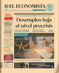 """""""Desempleo baja al nivel precrisis"""", en nuestra primera plana de este lunes 23 de diciembre de 2013."""