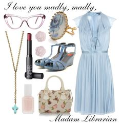 Marian the Librarian...I could totally pull this off.  (minus the rosary-ish necklace, come on.)