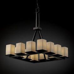 Justice Design Group POR-8663-15 12 Light Limoges Montana Ring Tall Chandelier