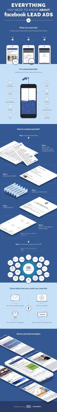 Everything You Need to Know About Facebook Lead Ads - #infographic
